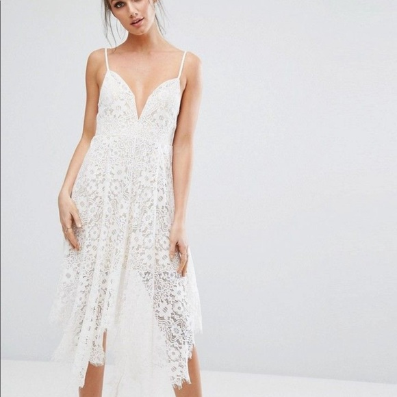 Asos White Lace Dress Nwt